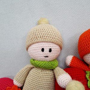 beige crochet doll