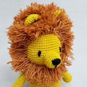 fair trade stuffed animal lion toy