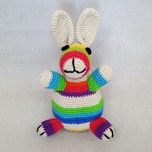 Rainbow Crochet Bunny