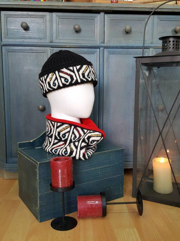 fair trade unisex winter circle scarf