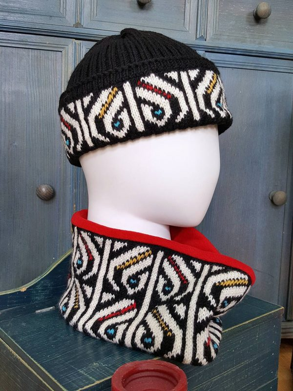 knitted cold weather beanie