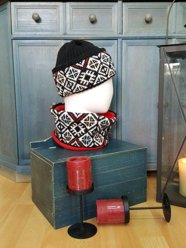 traditional pattern circle scarf