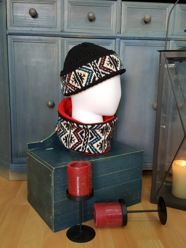Winter Jacquard scarf