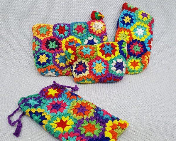 fair trade crochet phone case