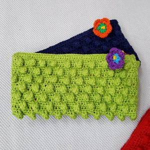 Crochet green wallet