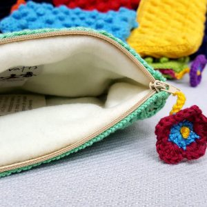 hand crochet toiletry bag