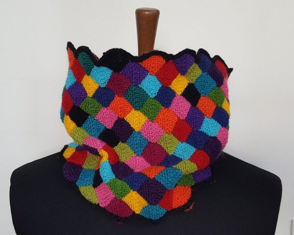 fair trade knitted winter scarf