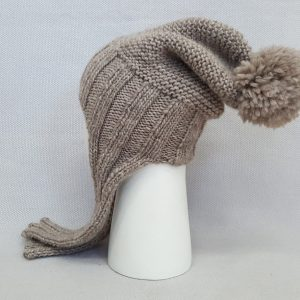 beige cold weather cap