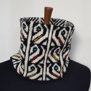 traditional knit pattern winter scarf