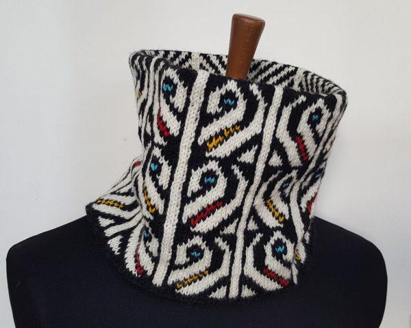 winter sports circle scarf