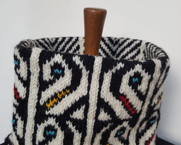 fair trade jacquard collar scarf