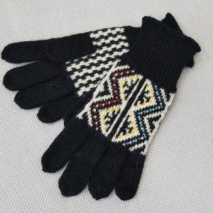 jacquard knit winter gloves