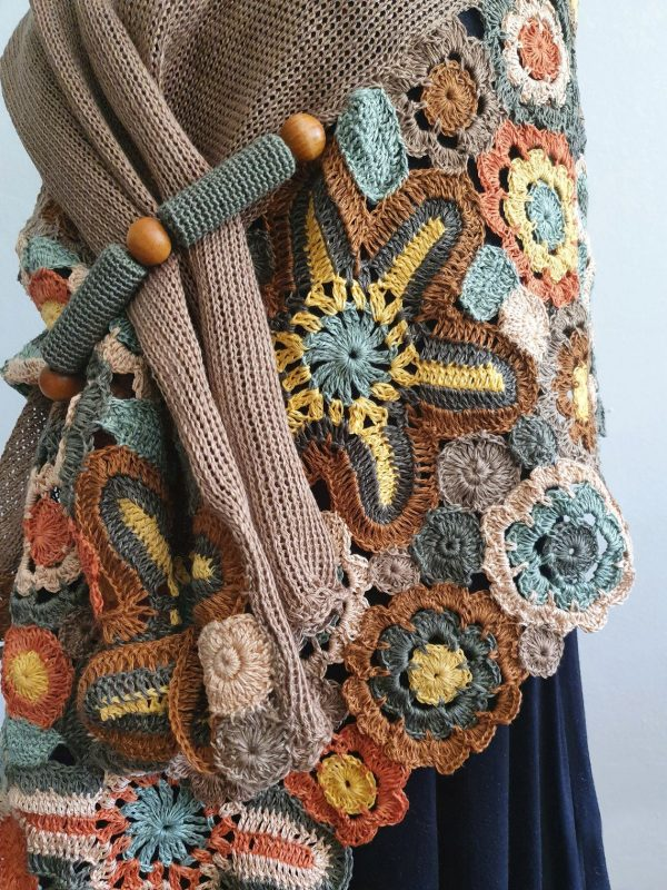 knit spring shawl