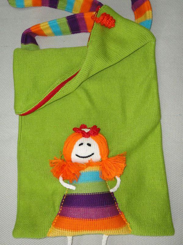Rainbow straps shoulder bag