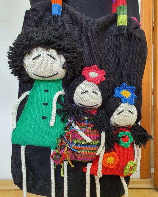 fair trade black knitted bag