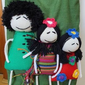 casual bag with doll applique