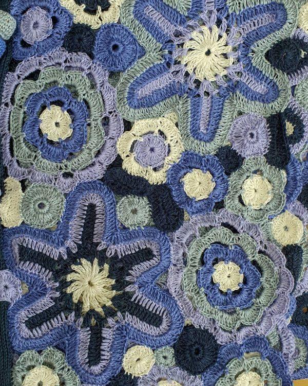 handmade crochet spring jacket