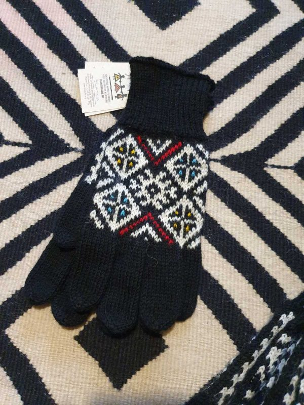 traditional pattern on mittens