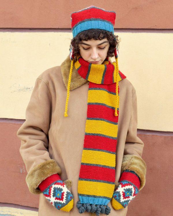 fair trade colorful scarf
