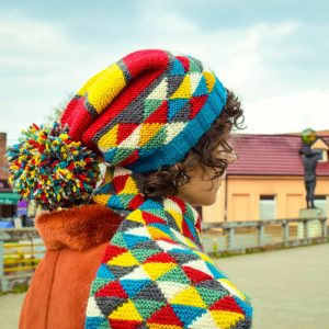 triangle knit hat