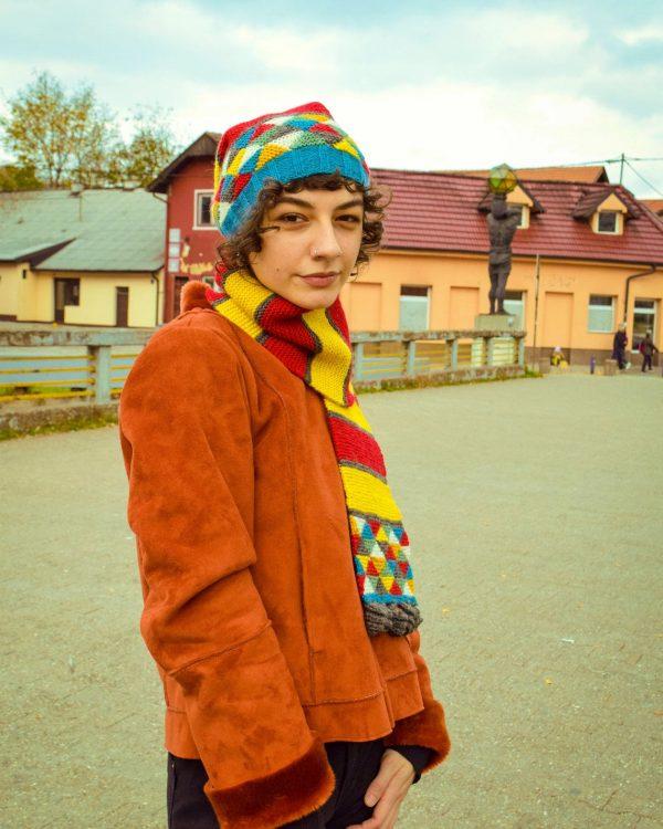multicolor fair trade winter scarf
