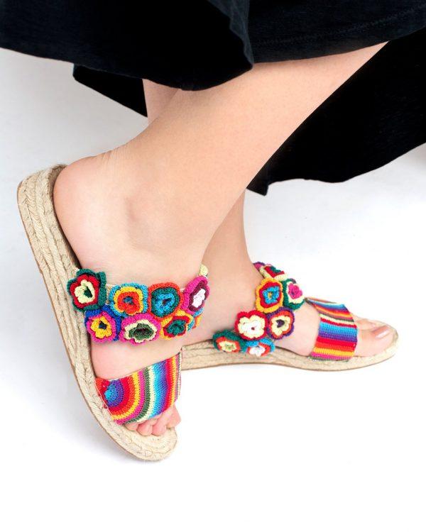 fair trade crochet slippers