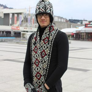 traditional pattern scarf