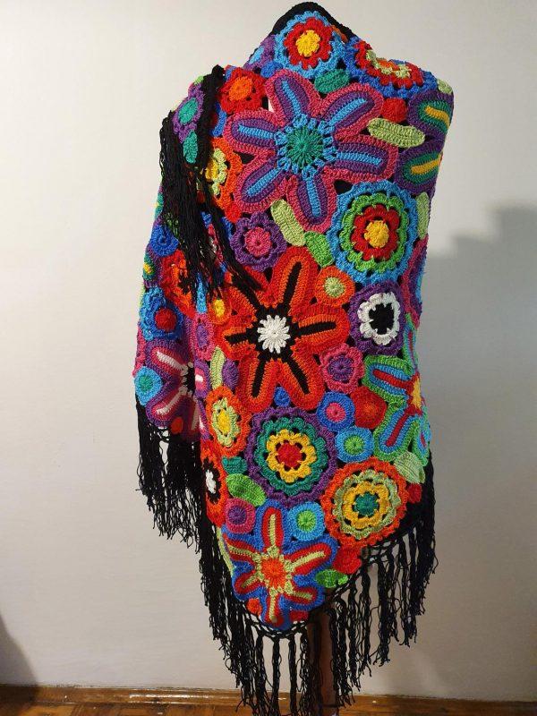 bright colors crochet stole