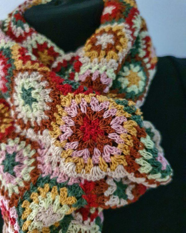 fair trade crochet scarf