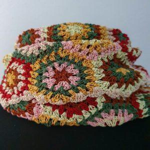 pastel colors crochet shawl